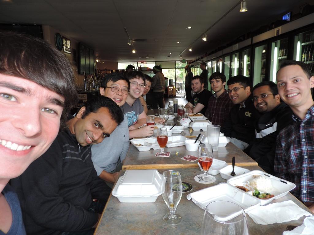Dejeuner avec mon équipe